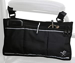 Pembrook Wheelchair Side Bag with Pouches - Great for Electric Wheelchairs, Electric Scooter, Walker Accessories, & Other Mobility Devices - Lightweight Nurse Bag and Organizer for Medical Chairs