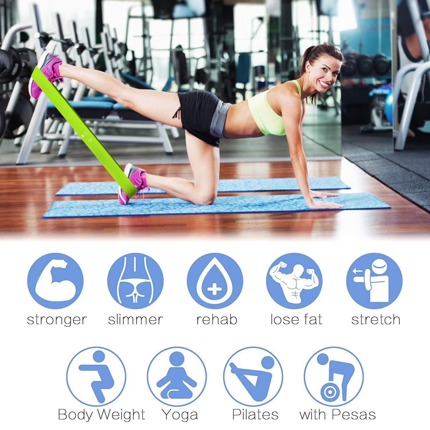 Amazon.com : Viden Resistance Bands-Exercise Bands and Sliders Gliding Discs Core Sliders, Resistance Loop Workout Bands For Legs and Butt, Stretching Bands ...