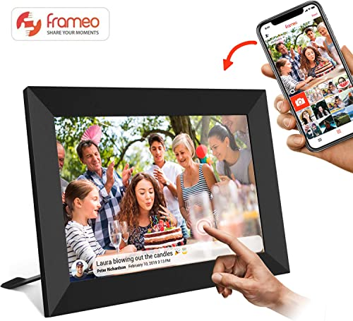 10 Inch Smart WiFi Digital Photo Frame with Touch Screen, 8001280 IPS LCD Panel, Auto-Rotate Portrait and Landscape,Built in 16GB Memory, Share Moments Instantly via Frameo App from Anywhere