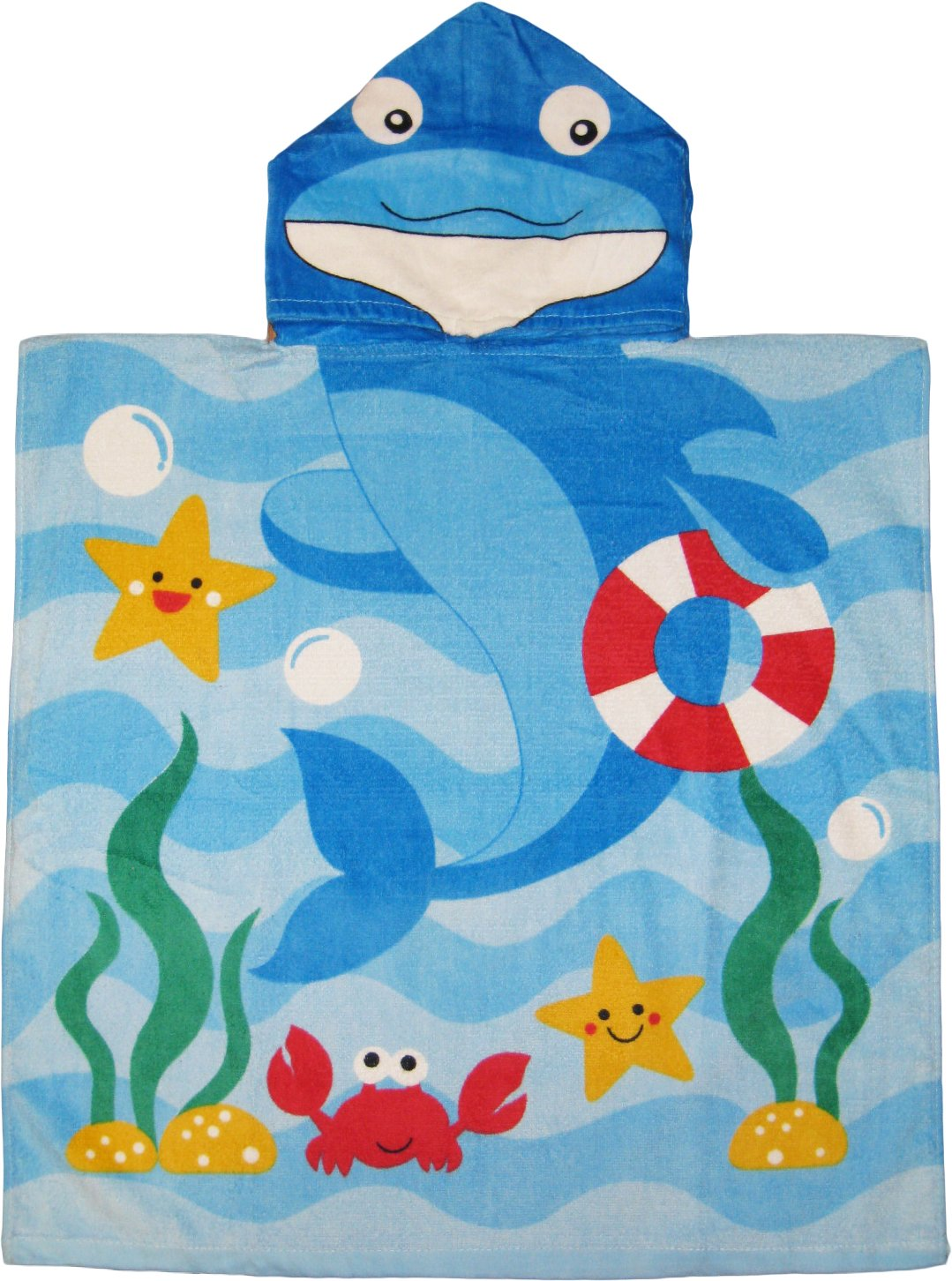 amazon com dolphin 100 cotton poncho style hooded bath u0026 beach
