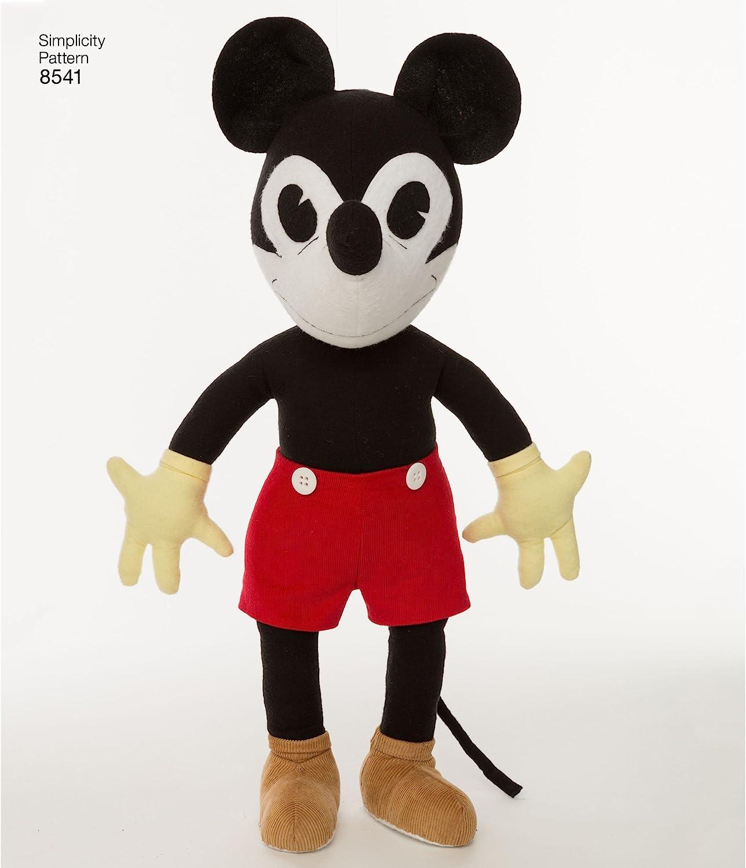 Simplicity Creative Patterns US8541OS Vintage Disney Mickey One Size Minnie /& Pluto Pattern,