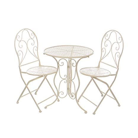 Sedie Da Giardino In Metallo.Set Tavolo E 2 Sedie Da Giardino In Metallo Amazon It Casa E Cucina