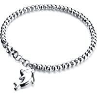 COK-AU Cute Fashion Beautiful Bracelet Fashion Extravagance Jewelry Cute Dolphin Bracelet Girl's Birthday Present(Silver)