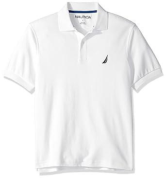 59c2451654e Amazon.com: Nautica Men's Short Sleeve 100% Cotton Interlock Solid Polo  Shirt: Clothing