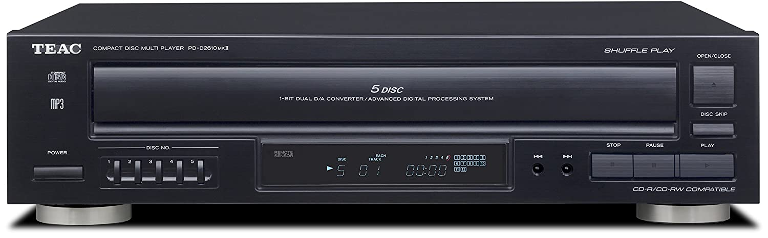 TEAC TEAPDD2610MK2, 5-Disc CD Player with Remote