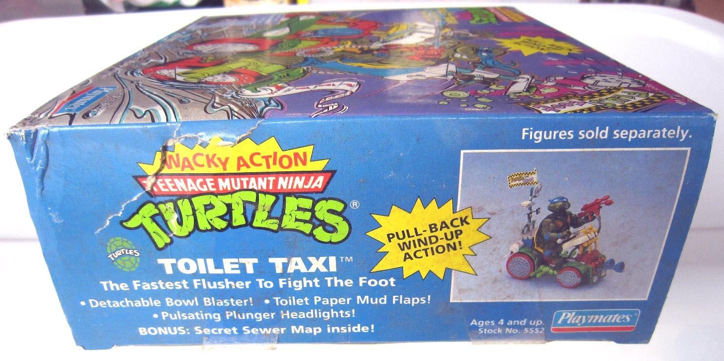 Teenage Mutant Ninja Turtles 1990 Toilet Taxi COMPLETE C-8