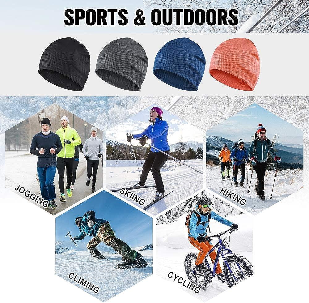 Pour homme et femme le cyclisme Pour la course Respirant et thermique le jogging la moto Bonnet de course HASAGEI le snowboard le ski