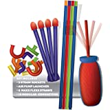 Pump Rocket Micro Straw Shotz Deluxe - Rocket Launch Building System in Tube Package