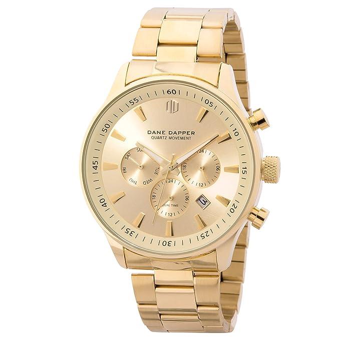 96880be3744e Dane Dapper Reloj metálico de color dorado Troika  Amazon.es  Ropa y  accesorios