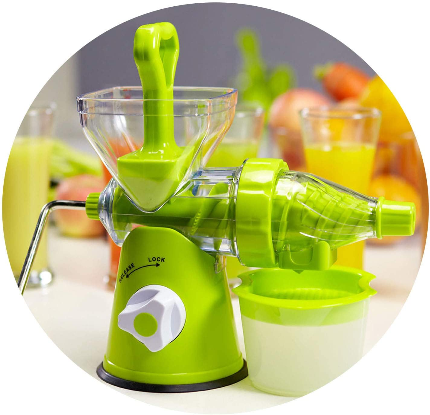 Manual Hand Juicer Multifunction Household Fresh Fruit Extractor Kitchen Tool Fruit Vegetable Manual Juicer Suction Base,style A