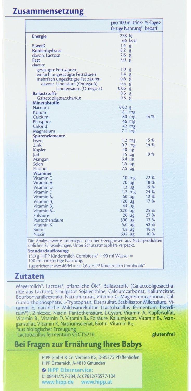 leche para bebés Hipp Bio Combiotik - de 1 año, 3-pack (3 x 600 g): Amazon.es: Alimentación y bebidas