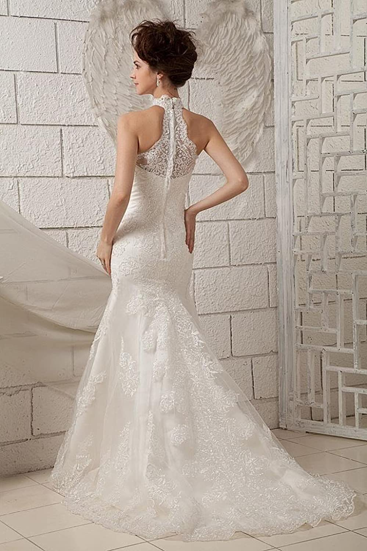 GEORGE BRIDE Impressive Mermaid Lace Evening Dress