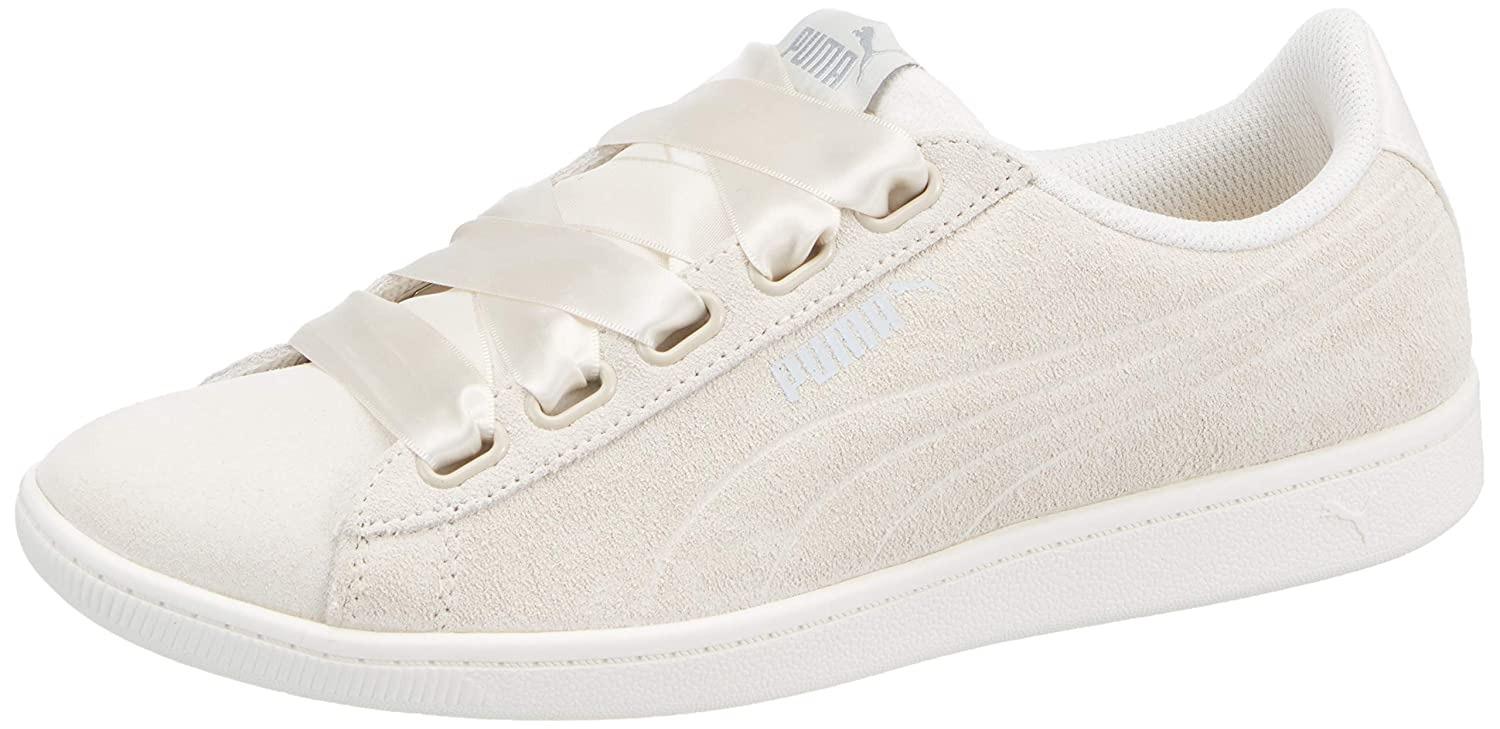 Puma Vikky Ribbon S Sneaker Women Kids Trainers 366416 03 Pearl