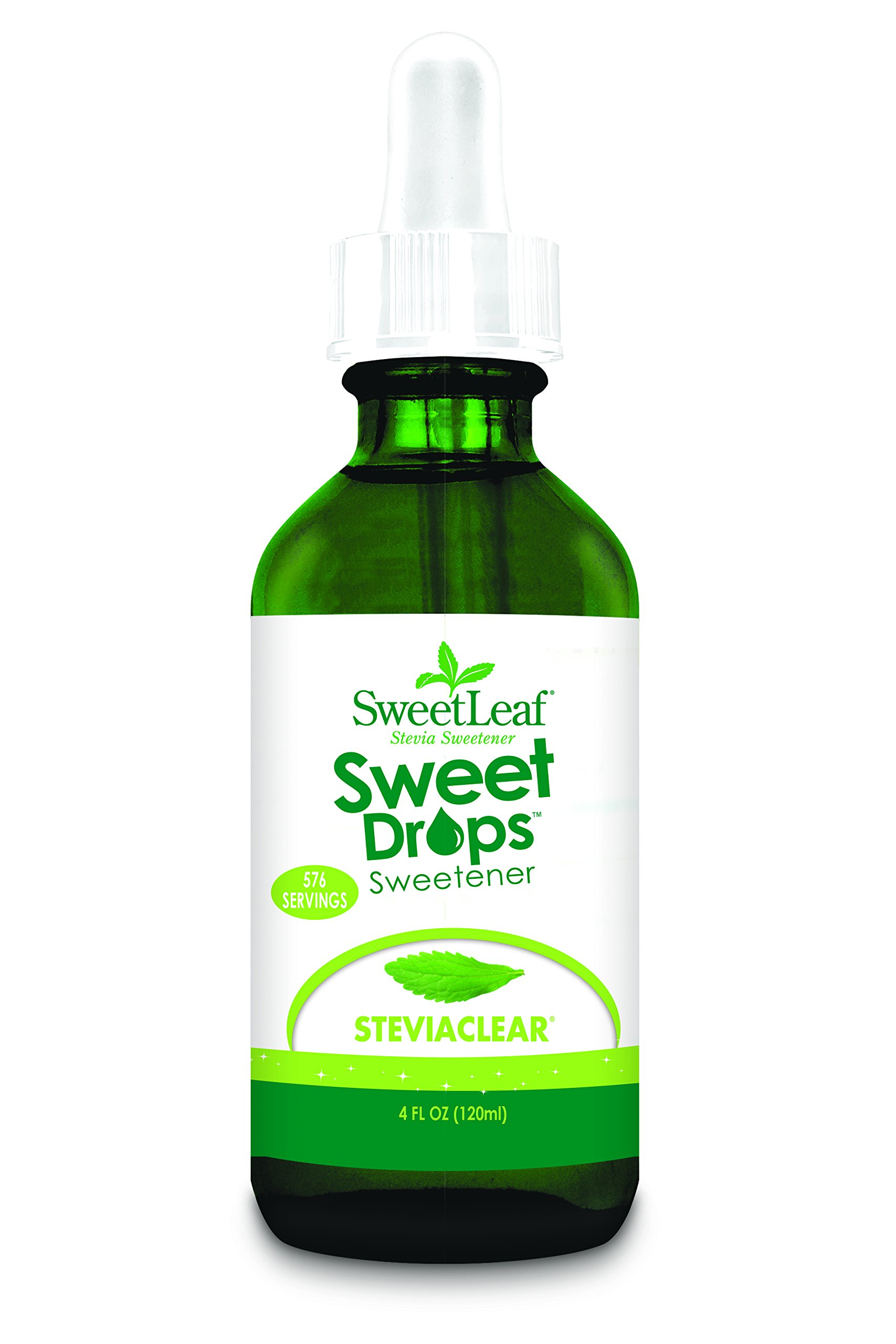 SweetLeaf Sweet Drops Liquid Stevia Sweetener, SteviaClear, 4 Ounce (Pack of 2) by SweetLeaf (Image #2)