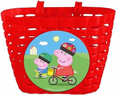 Cesta Delantera compatible con Peppa Pig Infantil Niño Niña a ...