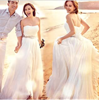 894559d3b8384 (ノーブランド品) ベアトップ ウェディングドレス ホワイト XS