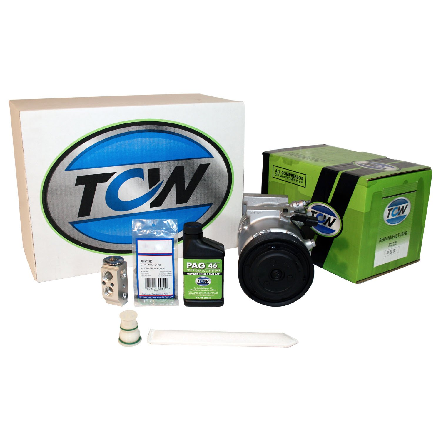 TCW K1000773R A//C Kit with Premium Remanufactured Compressor
