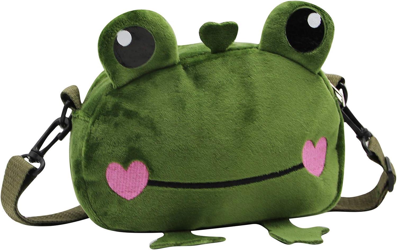 Clothing, Shoes & Jewelry Kids Cute Frog Cartoon Crossbody Purse ...