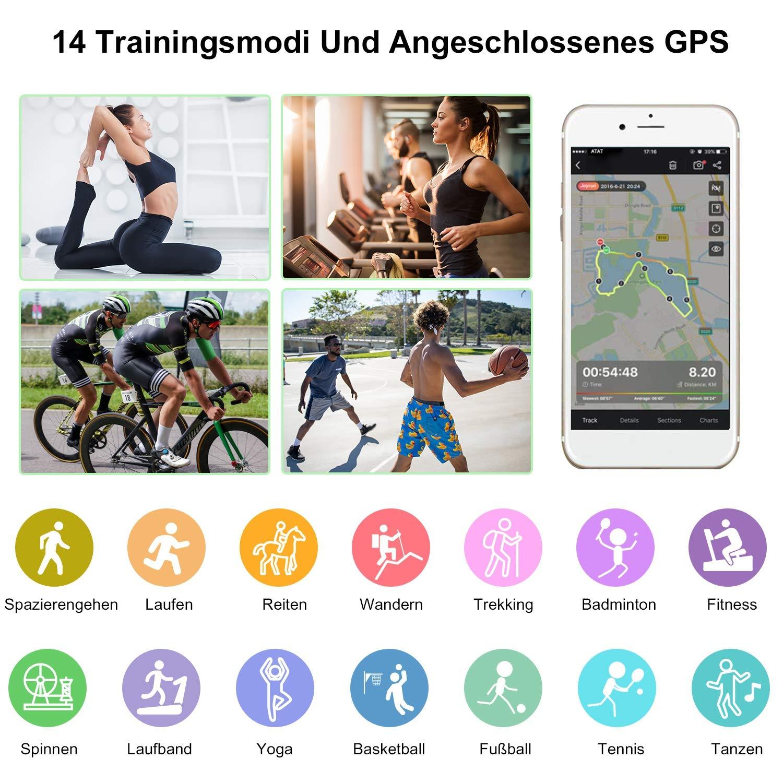ESOLOM Fitness Tracker Schritt//Kalorienz/ähler IP68 wasserdichtes Smart Armband Pedometer Farb Touchscreen Fitness Uhr f/ür Kinder Aktivit/äts Tracker mit Herzfrequenz//Schlafmonitor Frauen