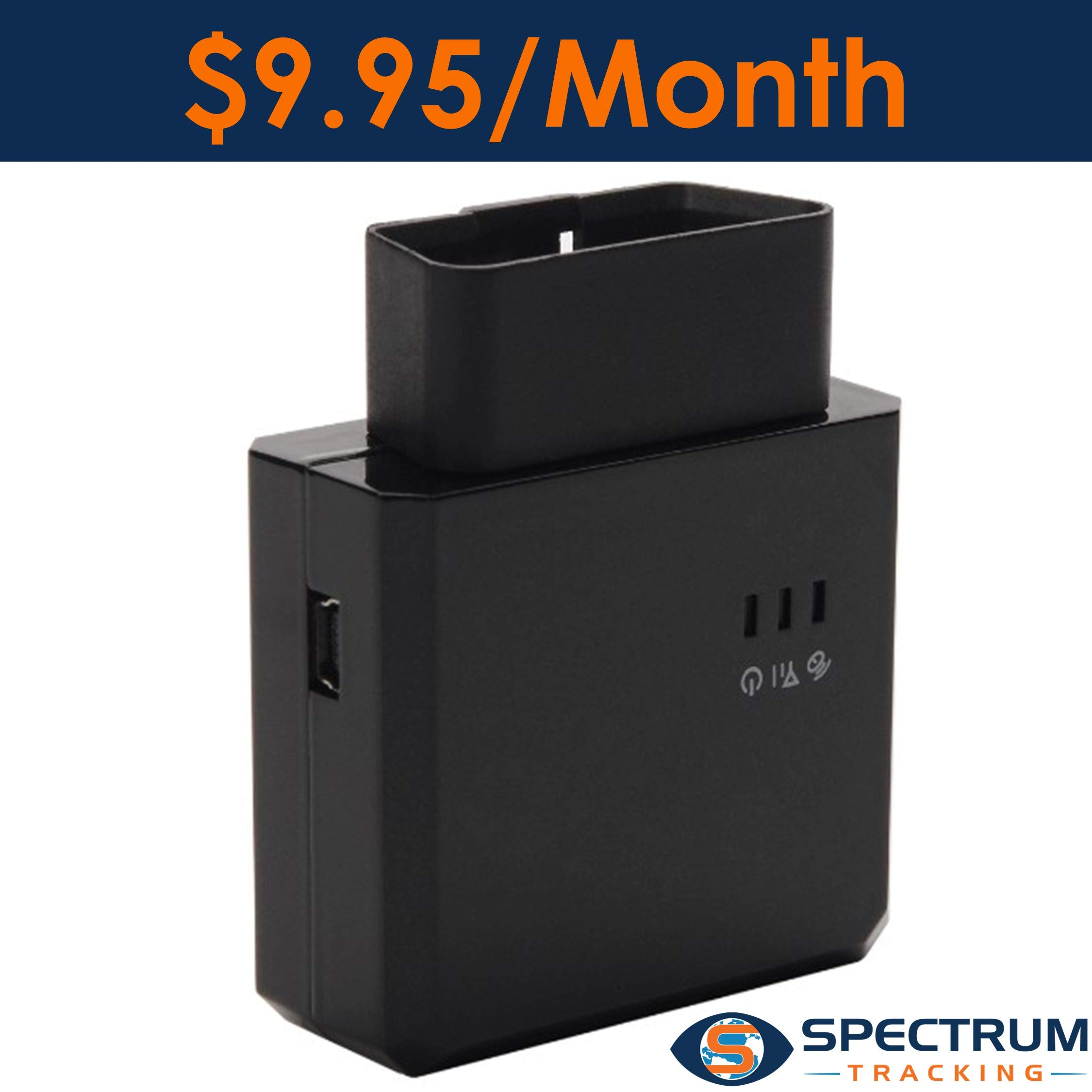 Spectrum Smart - OBD II GPS Tracker - $9.95/Month - Track Location/Speed/Driving Habits/Vehicle Health, Alerts, Geo-Fence - for Teen Drivers, Seniors, Small Business and Fleet Management.