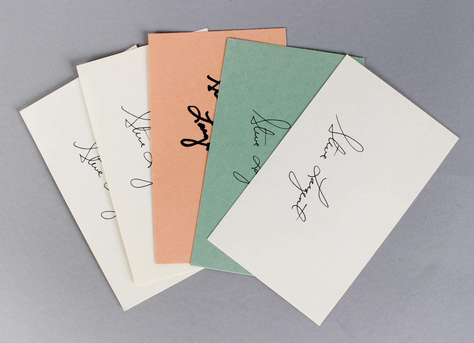 Seattle Seahawks Steve Largent Signed 35 Index Card Lot (5) () JSA Certified NFL Cut Signatures
