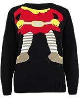 Novelty Christmas Santa Elf Snowman X-Mas Sweater Jumper Top Size