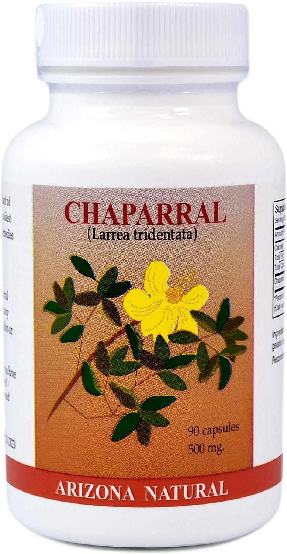 Arizona Natural - Chaparral (Larrea Tridentata) 500 mg, 90 Capsules