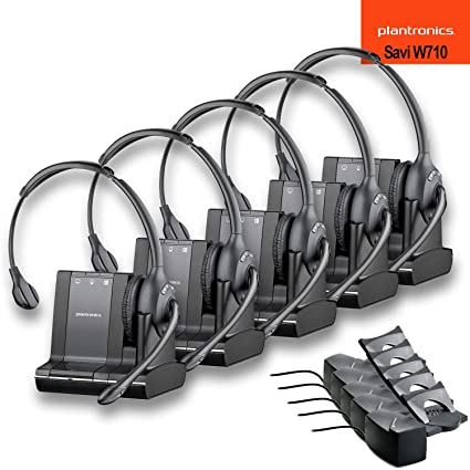 92e1ea6660a Amazon.com: Plantronics (83545-01) Savi W710 Multi Device Wireless Headset  System + HL10 Handset Lifter - 5 Pack: Electronics