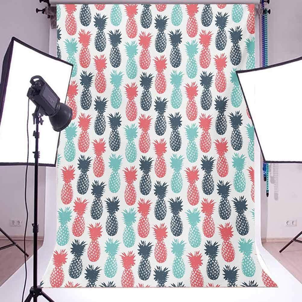 Pine 10x15 FT Backdrop Photographers,Island Pine Tropic Fruit Pattern Stamped Minimal Backdrop Pop Art Background for Child Baby Shower Photo Vinyl Studio Prop Photobooth Photoshoot