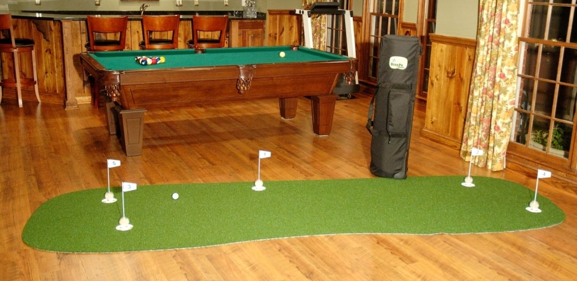 StarPro 4ft x 12ft 5-Hole Mobile Professional Practice Putting Green ''Best in the World.""