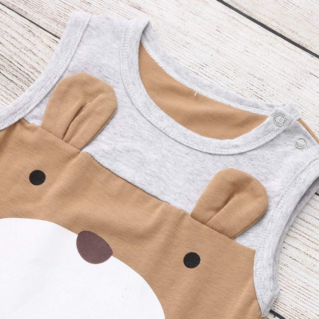 Cuekondy Newborn Toddler Baby Boys Girls Kids Cute Cartoon Bear Romper Jumpsuit Summer Clothes 0-3 Years Old