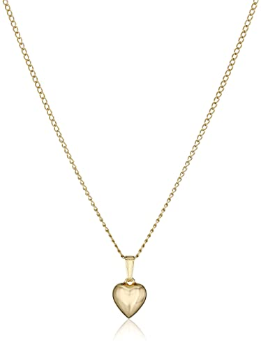 Amazon childrens 14k gold filled puffed heart pendant necklace childrens 14k gold filled puffed heart pendant necklace aloadofball Gallery