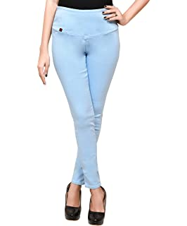 d331aa93cc32f ShopOlica Women's Denim Jeggings Stretchable High Waist (Navy Blue ...