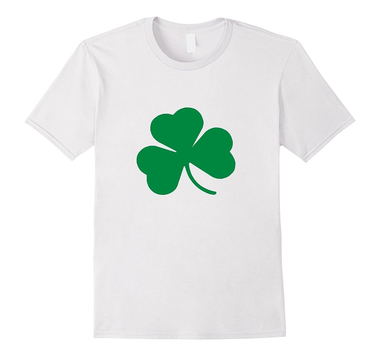 White T Shirt With Green Shamrock Men Women Kids - CUTE-TD