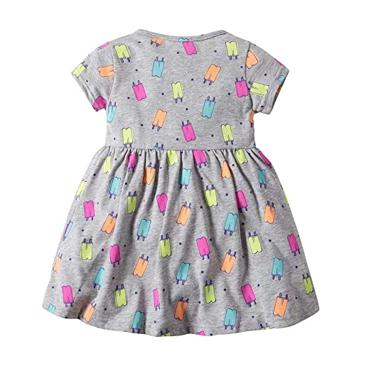 9bc48b281600 Amazon.com  SSZZoo Toddler Kid Baby Girl Romper Dresses Floral Short Sleeve  Dress Summer Princess Clothes  Clothing