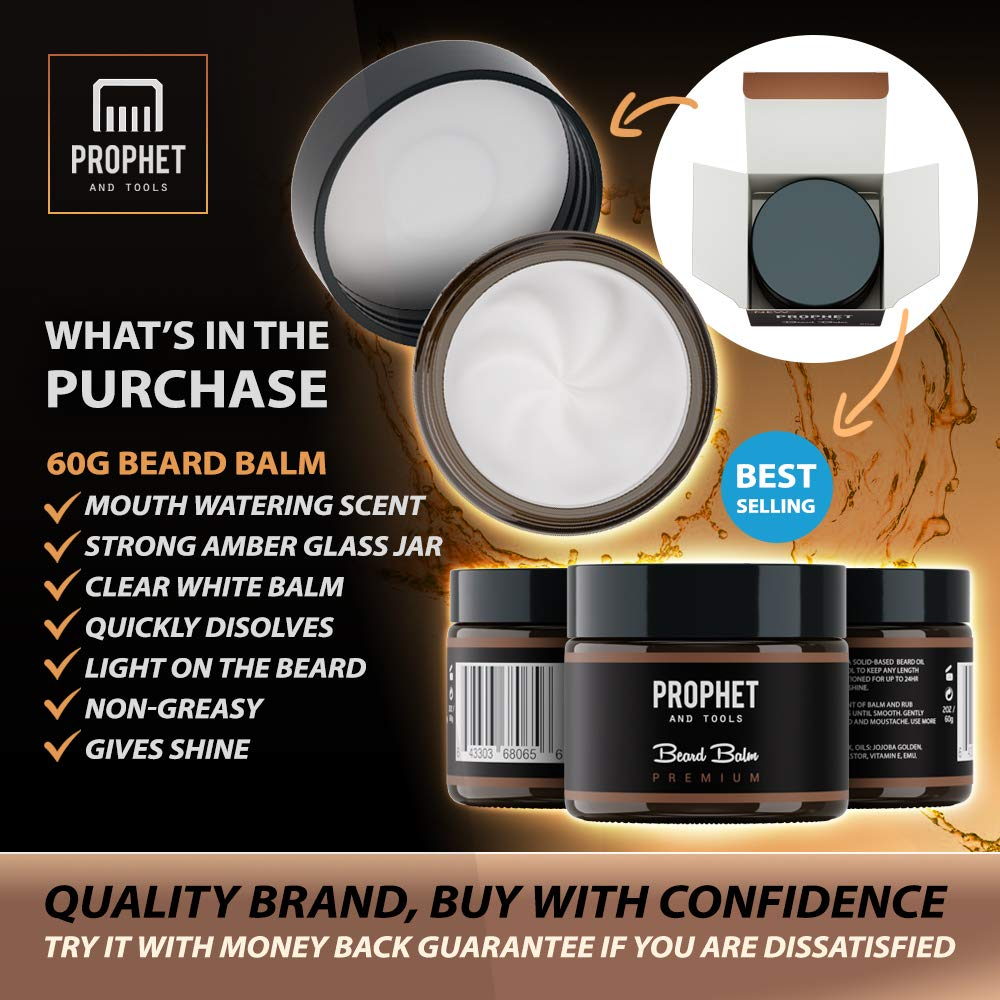 PREMIUM Beard Balm Butter and Wax Formula For Men Grooming