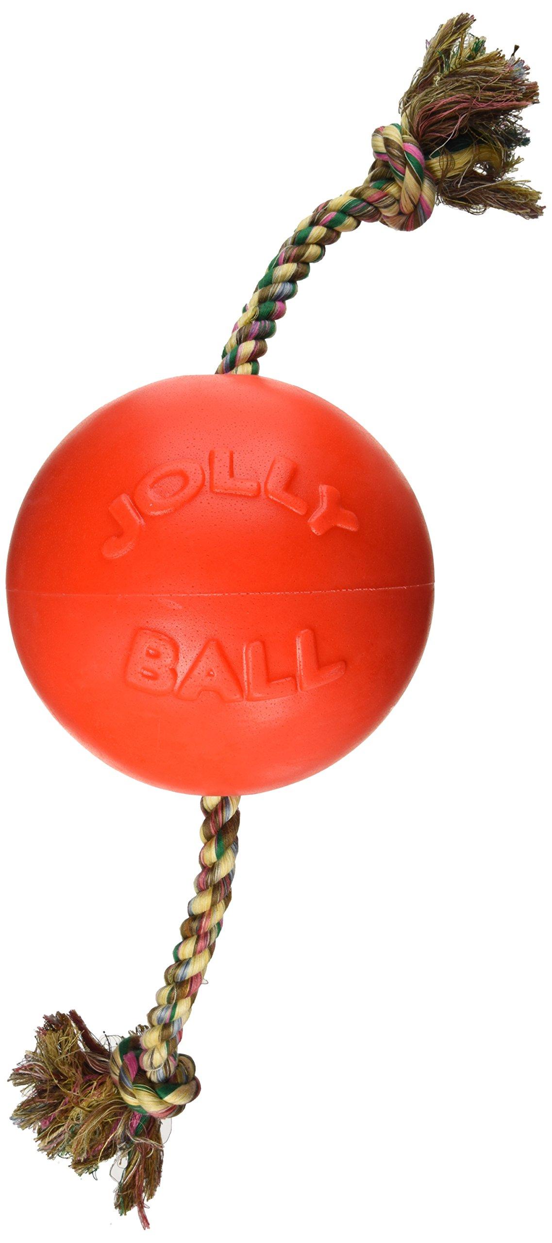 Jolly Pets 8'' Romp-n-Roll Dog Toy, Large, Orange