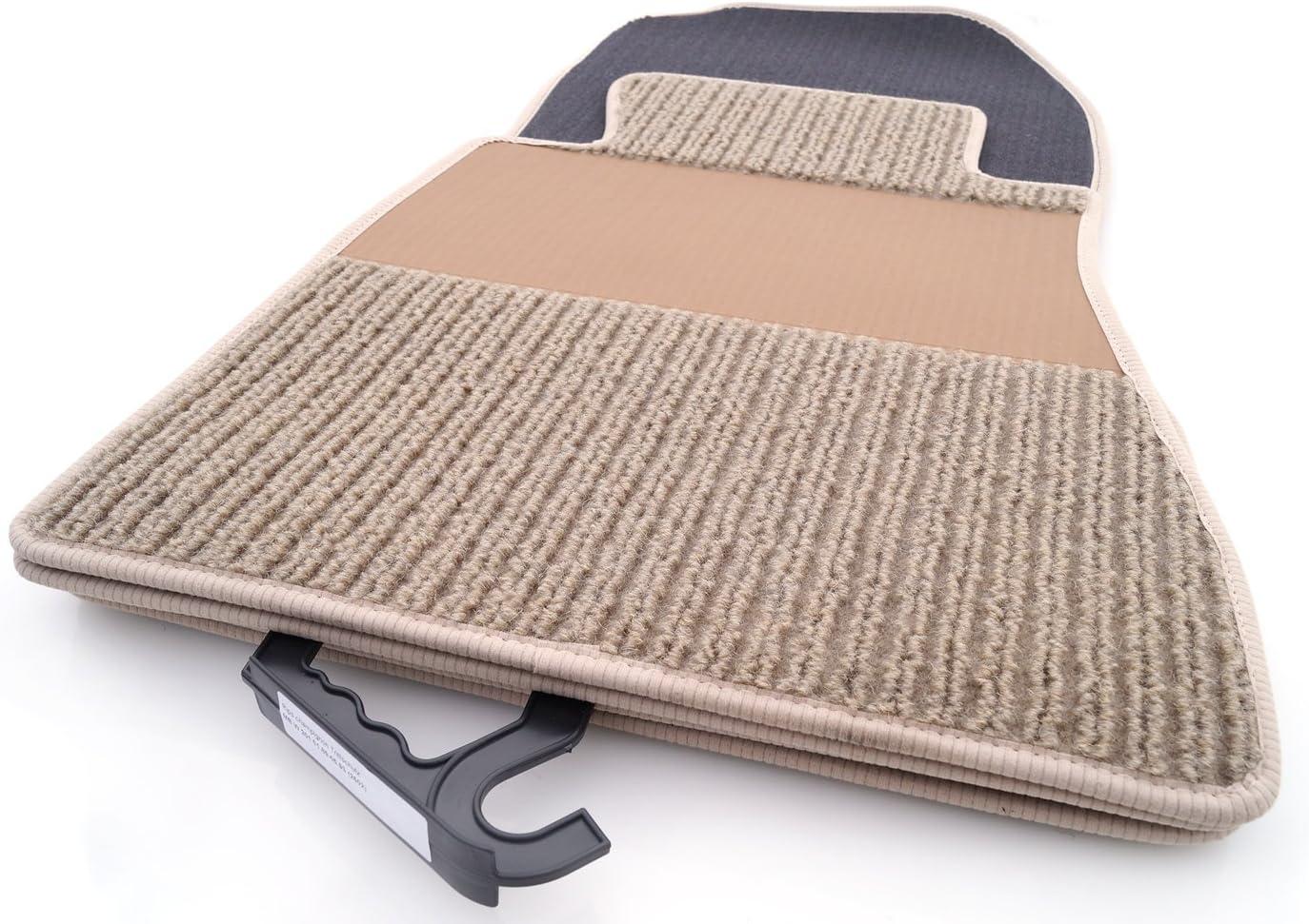 Kh Teile Fußmatten Rips Automatten Original Qualität Ripsmatten 4 Teilig Beige Mit Absatzschoner Auto