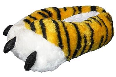 Tier Hausschuhe Tiger Kralle Gelb Gelb lustige Pantoffel