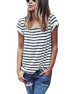 Mine Tom Minetom Cuello Redondo Verano Moda Camiseta Para Mujer Blusa Tops Corta Manga Blanco Negro