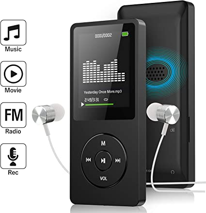 MP3 Player Portable Built In Speaker FM Radio E Book 8G Memory Storage Audio New