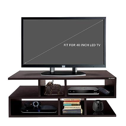 Klaxon Wooden TV Unit (Matte Finish, Brown)