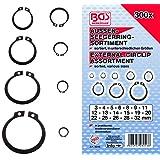 BGS 8046Assortiment d'anneaux/circlip d'extérieur, 3–32mm, 300pièces