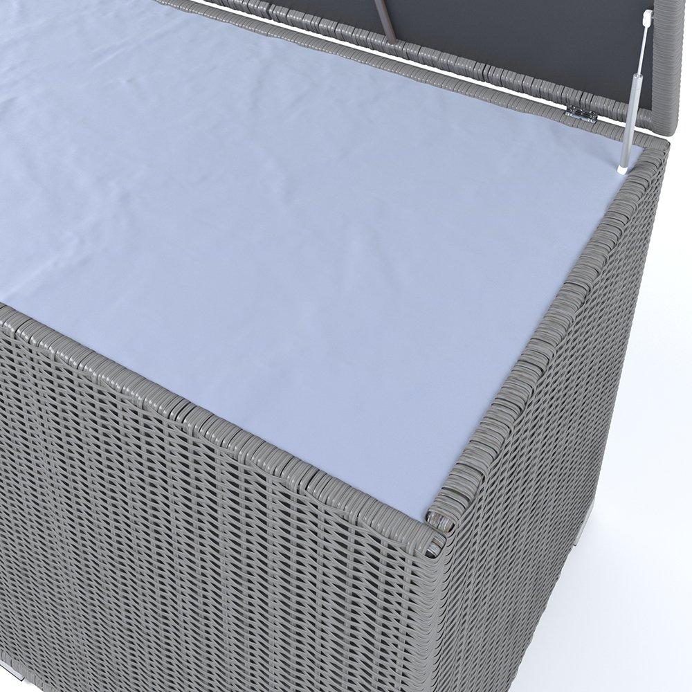 XXL Kissenbox wasserdicht Polyrattan 950L Anthrazit Auflagenbox ...