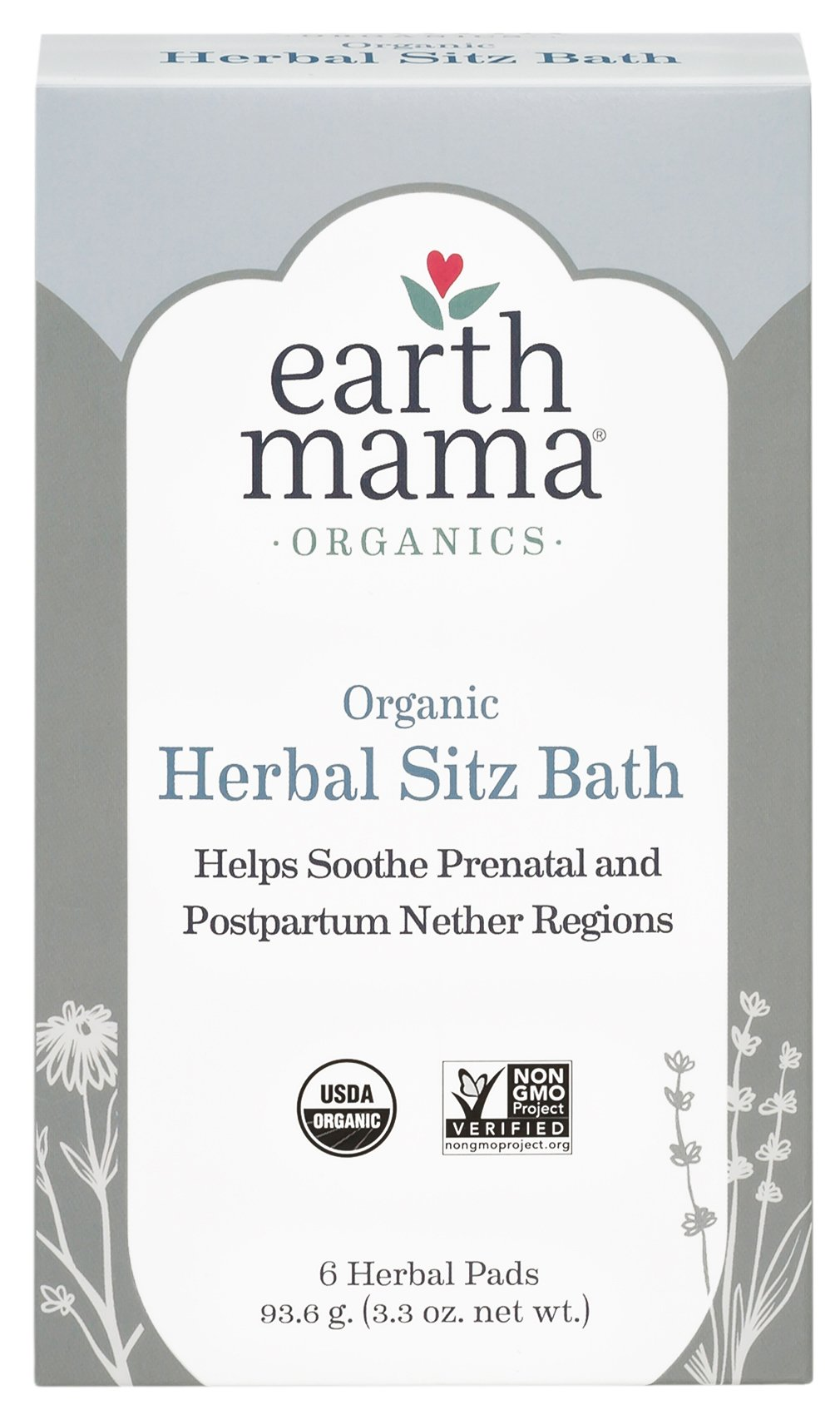 Earth Mama Organic Herbal Sitz Bath for Pregnancy and Postpartum, 6-Count