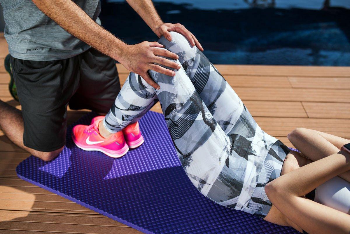 ABS Bootymats Stretching Gymnastikmatte Ma/ße: 160 x 60 cm Fitnessmatte Multifunktion f/ür Jede Art von Workout: Fitness Pilates