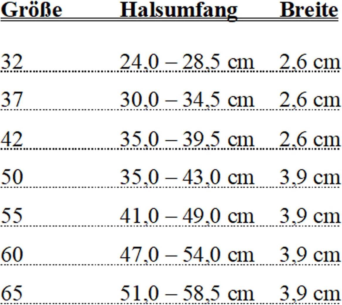 HUNTER Hundehalsband Basic 41-49 cm Gris y Negro