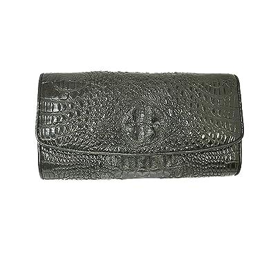 quality design d2ba3 14326 Amazon   ハンドメイド クロコダイルの財布 長財布 ブラック ...