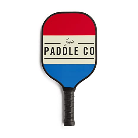 Iconic Pickleball Paddle – Graphite Face with Polypropylene Honeycomb Composite Core – Cushion Grip – Protective Neoprene Cover – Multiple Color Options