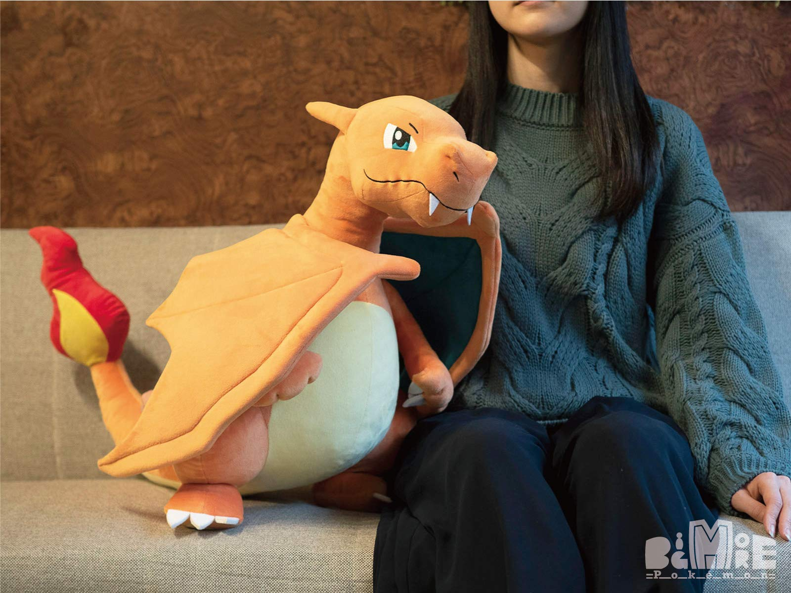NEW Sanei Boeki Pokemon BigMore Charizard Plush Doll 49cm Stuffed Toy from Japan